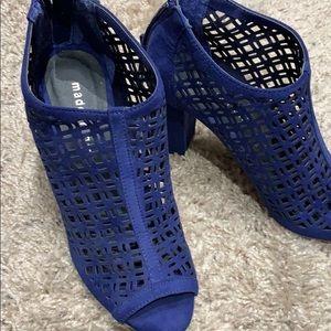 Madden girl royal blue peep toe NWOT